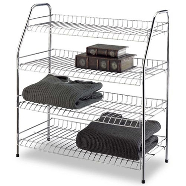 4-Tier Storage Rack in Chrome by Organize It All