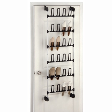 Narrow Overdoor 12 Pair Shoe Rack by Organize It All