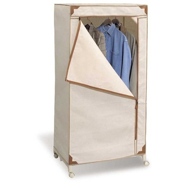 Rolling Storage Wardrobe by Organize It All - Sahara Tan