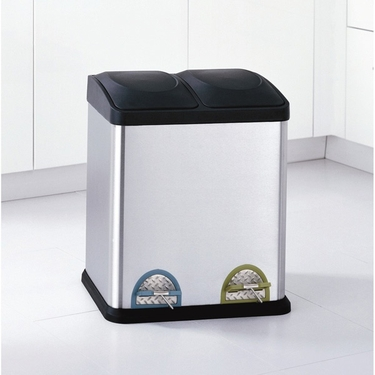 30 Liter Step On Recycle Bin by Organize It All