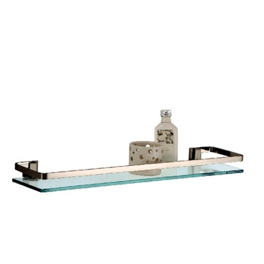 Glass Shelf With Nickel Rail by Organize It All