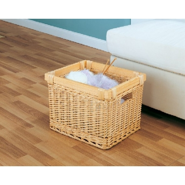 Mellow Milk Crate Style Storage Basket by Organize It All