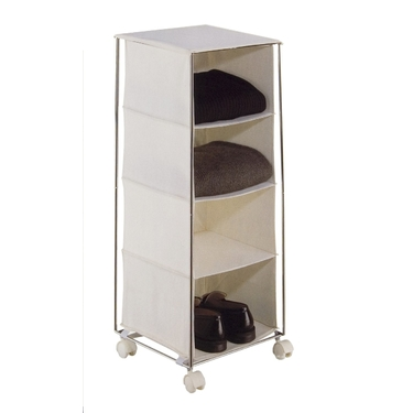 Four Cubby Rolling Storage Unit by Organize It All