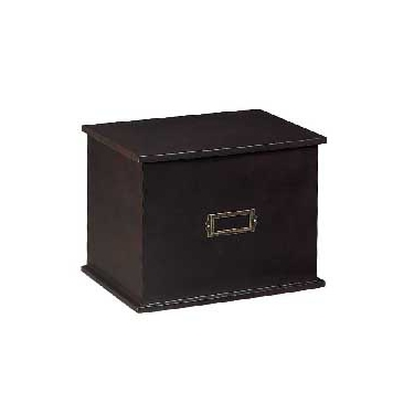 Bishop Wooden Stationary Box by Organize It All