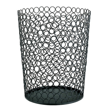 Wire Circle Round Wastebasket By Organize It All