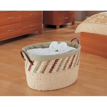 Mulberry Oval Laundry Basket by Organize It All