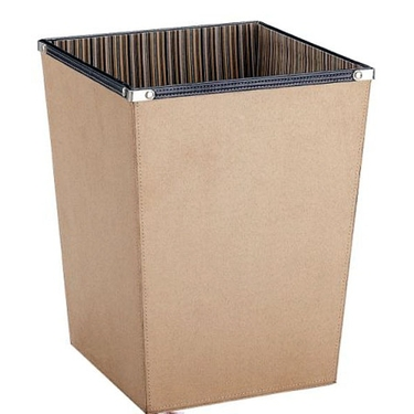 Faux Suede Wastebasket by Organize it All