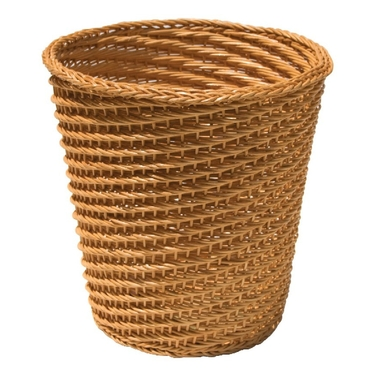 Natural Wicker Tapered Wastebasket by Organize It All
