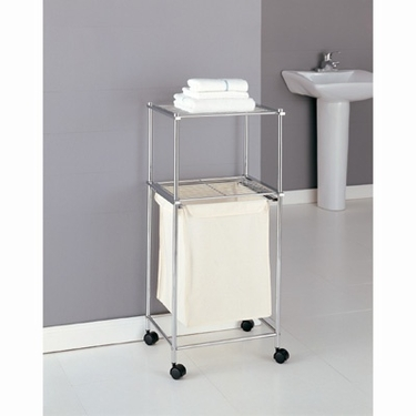 Metro Collection 2-Tier Laundry Cart by Organize It All
