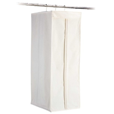 Jumbo Canvas Hanging Suit Bag by Organize It All