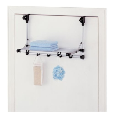 Set of 2 Over-The-Door Shelf With Hooks by Organize It All