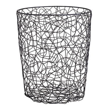 Wire Chaos Round Wastebasket by Organize It All