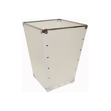 Set of 2 Wastebasket White with Silver Accents by Organize It All: 82167