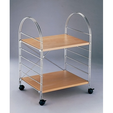 Chrome 2 Shelf Rolling Cart