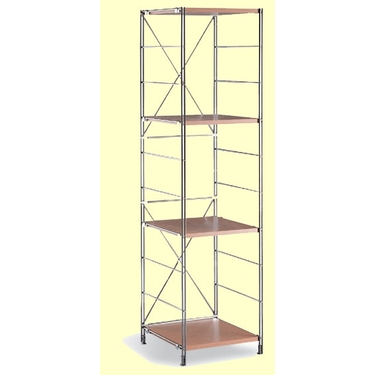 Chrome 4 Shelf Storage Tower-Ground Shipping Only