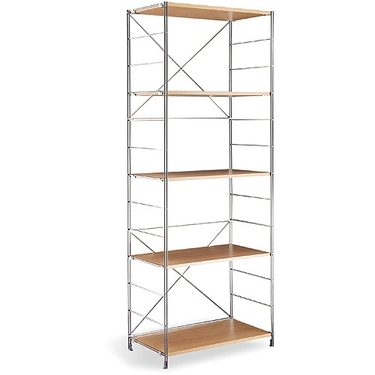 5-Tier Chome Shelf by Organize It All: Wooden Shelves