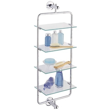4-Tier Frosted Acrylic Mounting Shelf by Organize It All