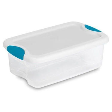 6 Quart Latch Lid Totes by Sterilite: Pack of 12