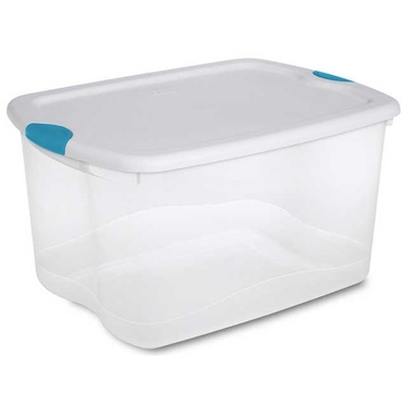 Sterilite 66 Quart Latch Box Storage Totes: Set of 4