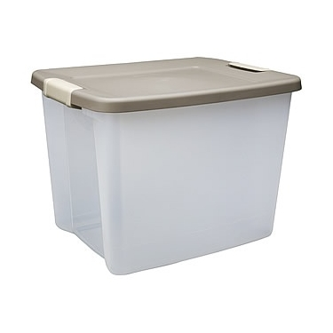 50 Quart Clear Shelf Totes by Sterilite - Pack of 6