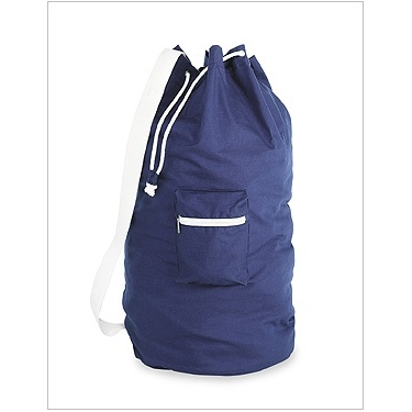 Navy Cotton Duffel Bag