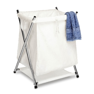 Chrome Folding Hamper by Whitmor