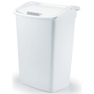 Rubbermaid 13 Gallon Dual Action Trash Can - White