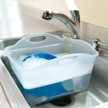 Rubbermaid Dishpan With Handles And Drain Plug