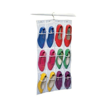 Clear Hanging 12-Pocket Shoe Bag by Richards