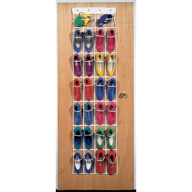 Clear Over the Door 24-Pocket Shoe Organizer