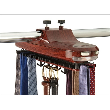 Battery Revolving Tie Rack
