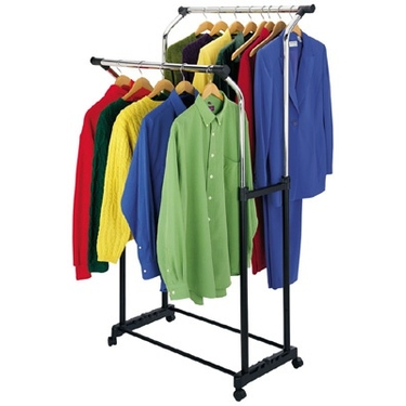 Parallel Double Clothes Rack