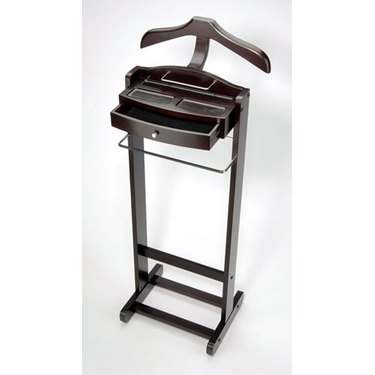 Elegant Walnut Finish Valet Stand by Richards