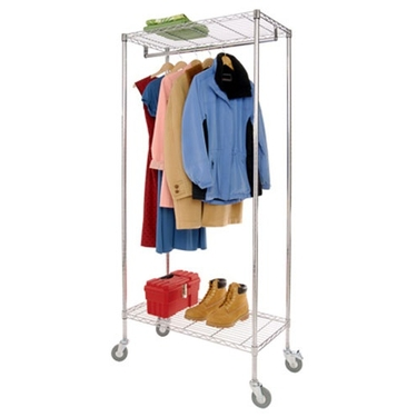 Rolling Garment Rack with Natural Canvas Cover by Richards