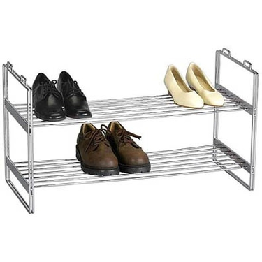 2-Tier Stackable Shoe Rack by Household Essentials