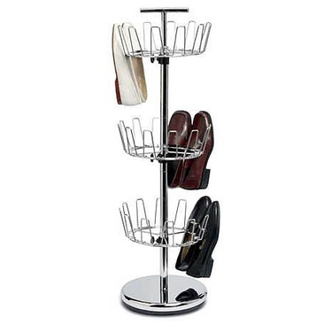 3-Tier Revolving Shoe Tree by Household Essentials