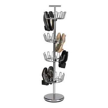 4-Tier Revolving Shoe Tree by Household Essentials