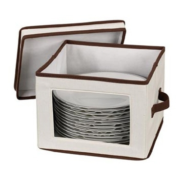 Visions Canvas China/Crystal Dinner Plate Storage Bin