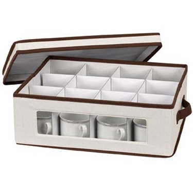 China/Crystal Cup Visions Canvas Storage Bin by Household Essentials
