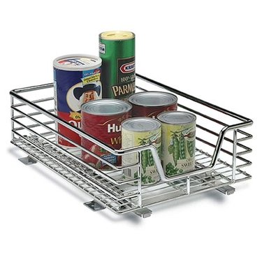 Household Essentials11.5 Inch Chrome Sliding Cabinet Organizer