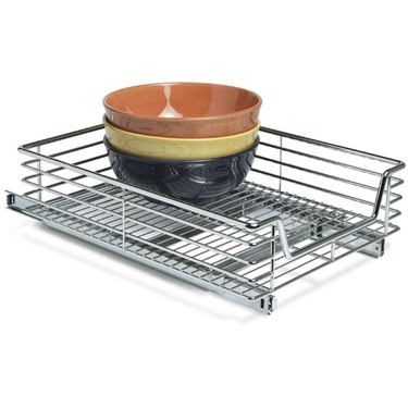 Household Essentials 14.5 Inch Extra Deep Sliding Cabinet Organizer