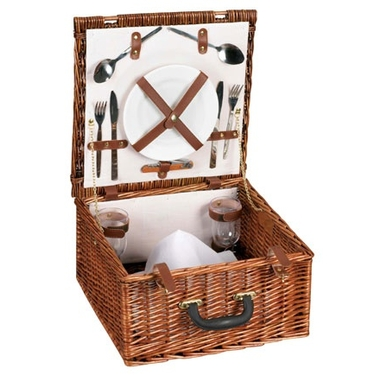Willow Picnic Basket with Service for 2 by Household Essentials