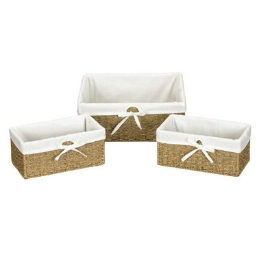 Woven Seagrass Utility Baskets by Household Essentials - Set of 3