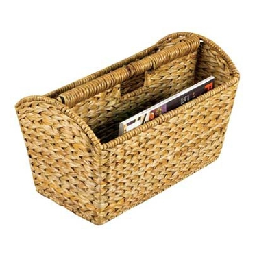 Woven Banana Leaf Magazine Rack by Household Essentials