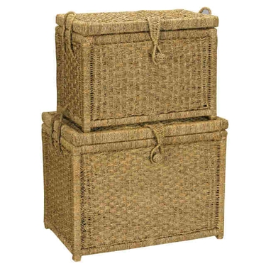 Seagrass Storage Chests by Household Essentials - Set of 2