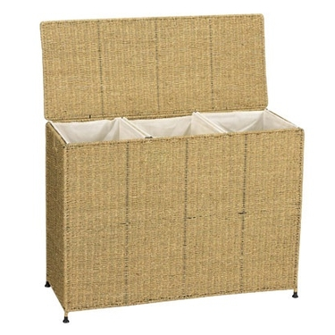 Seagrass Triple Bin Laundry Sorter by Household Essentials