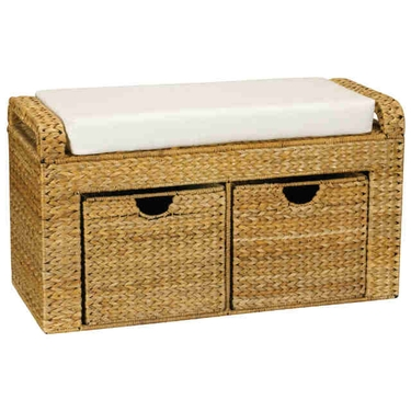 Banana Leaf 2-Drawer Storage Bench by Household Essentials