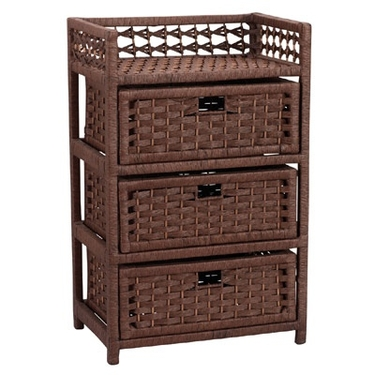 Paper Rope 3 Drawer Chest by Household Essentials