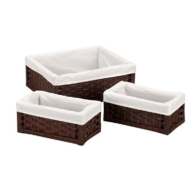 Paper Rope 3 Piece Utility Basket Set by Household Essentials