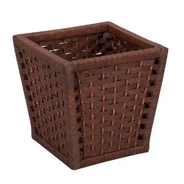 Paper Rope Wastebasket by Household Essentials